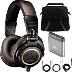 ATH-M50xDG Limited Edition Professional Studio Monitor Headphones Bundle