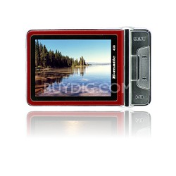 "2.4"" Color MP3 Video Player 4GB W/Built-in 5MP Digital Camera - Red"