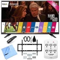 60UF7700 - 60-inch 240Hz 2160p 4K Smart LED UHD TV w/ WebOS Mount/Hook-Up Bundle