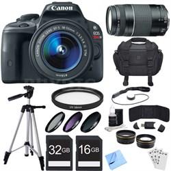 EOS Rebel SL1 18MP SLR Digital Camera + EF-S 18-55mm IS STM Lens Deluxe Bundle