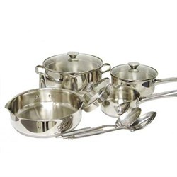 10-Piece Wearever Cook and Strain Stainless Steel Cookware Set - A834S984