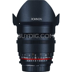 Cine DS 16mm T2.2  Cine Wide Angle Lens for Nikon SLR