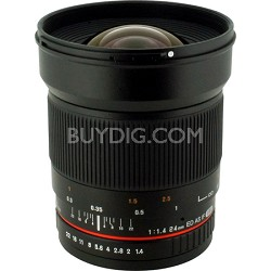 24mm F/1.4 Aspherical Wide Angle Lens for Pentax