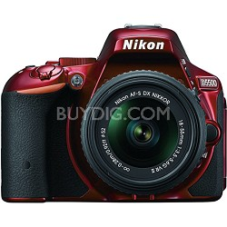 D5500 Red DX-format DSLR Camera with AF-S NIKKOR 18-55mm f/3.5-5.6G VR II Lens