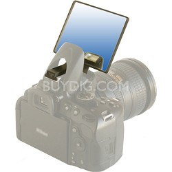 Blue Deluxe Flash Bounce Mirror for Pop-up Flash - (DLUX-MIR-B)