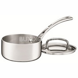 FCT19-14 - French Classic Tri-Ply Stainless 1-Quart Saucepan with Cover