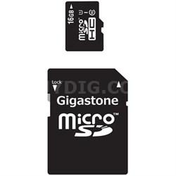 MicroSD HC 16GB C10 U1 With SD Adapter