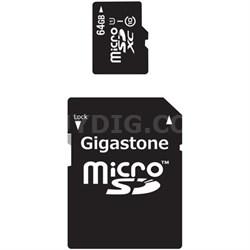 MicroSDXC 64GB C10 U1 with SD Adapter