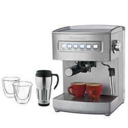 EM-200 Programmable 15-Bar Espresso Maker, Stainless Steel Fctry Refurb w/Bundle