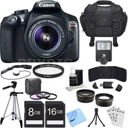 EOS Rebel T6 Digital SLR Camera with EF-S 18-55mm IS II Lens + Accessory Bundle