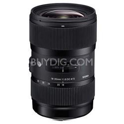 AF 18-35MM F/1.8 DC HSM Lens for Nikon - OPEN BOX