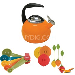 2-Quart Enamel on Steel Teakettle Bundle
