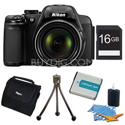 COOLPIX P530 16.1 MP 42x Zoom Digital Camera - Black Plus 16GB Memory Kit