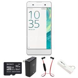 Xperia XA 16GB 5-inch Smartphone, Unlocked -White w/ Headphone Bundle
