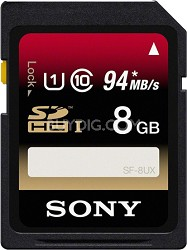 8 GB Secure Digital High Capacity 94MB/s (SDHC) Memory Card - Class 10
