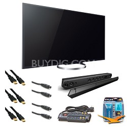 XBR65X850A 65-Inch 4K Ultra HD 120Hz 3D LED HDTV Sound bar Bundle