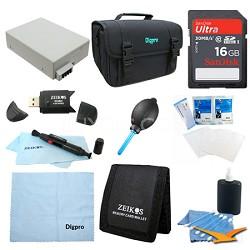 Fully Loaded Value 16GB Card & LP-E8  Kit for Canon Rebel  T5I, T4i, T3i & T2i