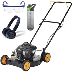 "Briggs 450e Side Discharge Push Mower w/ 20"" Deck & Accessories Bundle"