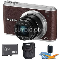 WB350 16.3MP 21x Opt Zoom Smart Camera Brown 8GB Kit