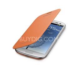 Galaxy S III Protective Flip Cover - Orange