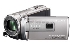 HDR-PJ200/S 5.3 MP Stills 25x Optical HD Projector and Camcorder (Silver)