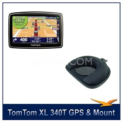 XL 340T Widescreen Car Navigator GPS + TomTom GPS Dashboard