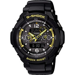 GW3500B-1A - G-Shock Aviator Analong Digital Black Resin Watch