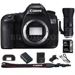 EOS 5DS R 50.6MP Digital SLR Camera (Body) + 150-600mm USD Zoom Lens Kit
