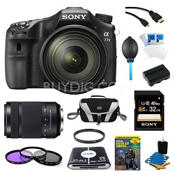 a77II HD DSLR Camera with 16-50mm Lens, 32GB Card, and 55-300mm Lens Bundle