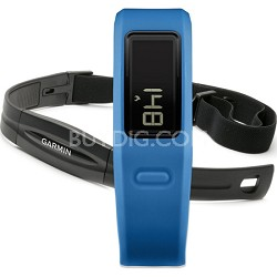 Vivofit with Heart Rate Monitor (Blue)(010-01225-34) Refurbished 1 Year Warranty
