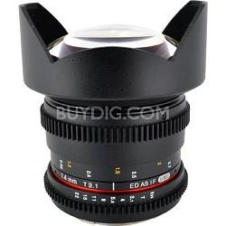 14mm T3.1 Aspherical Wide Angle Cine Lens, De-clicked Aperture - Canon EF Mount