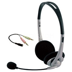 Universal All in One Stereo Headset with adjustable Mic