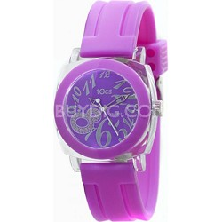 """Crystal 8"" Analog Round Watch Purple/Pink - 401265/401173"