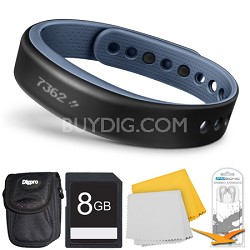 vivosmart Bluetooth Fitness Band Activity Tracker - Large - Blue Deluxe Bundle