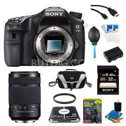 a77II HD DSLR Camera, 32GB Card, and 55-300mm Lens Bundle
