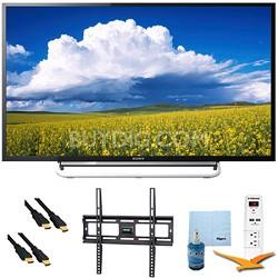 "60"" 1080p LED Smart HDTV Motionflow XR 480 Plus Mount & HookUp Bundle KDL60W630B"
