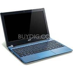 "Aspire One AO756-2666 11.6"" Netbook - Intel Celeron Mobile 847B Processor -Blue"