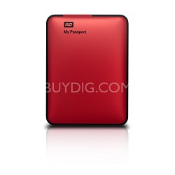 My Passport 1 TB USB 2.0 & 3.0 Portable Hard Drive - WDBBEP0010BRD-NESN (Red)