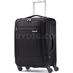 """SoLyte 20"""" Expandable Spinner Carry On Suitcase Luggage - Black - OPEN BOX"""