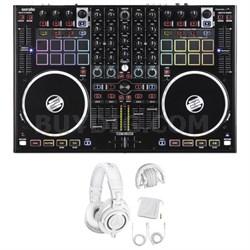 4-Deck Serato DJ-Performance Pad Controller (TM8) w/ Studio Headphone