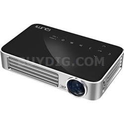 Qumi Q6 800 Lumen WXGA 720p HD LED Wireless Pocket Projector - Black