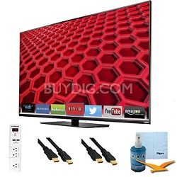 "55"" Full-Array LED Smart HDTV 1080p Full HD 120Hz Plus Hook-Up Bundle - E550i-B2"