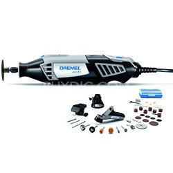 4000-3/34 Variable Speed Rotary Tool with 34 Accessories and 3 Attachments