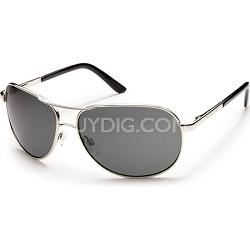 Aviator Sunglasses Silver Frame/Gray Polarized Lens