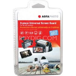 Digital Camera and Camcorder Screen Protectors for LCD's (pack of 3)