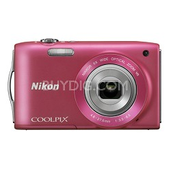 COOLPIX S3300 16MP 6x Opt Zoom 2.7 LCD - Pink