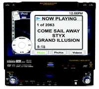 """VM9511TS In dash DVD player with 7"""" video touch screen"""