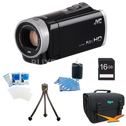 GZ-E300BUS - HD Everio Camcorder 40x Zoom f1.8 (Black) with 16GB Bundle
