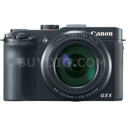 Powershot G3 X 20.2MP 25x Optical Zoom 1080p Full HD WiFi Digital Compact Camera