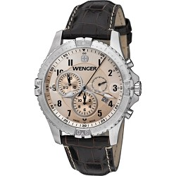 Men's Squadron Chrono Watch - Copper Dial/Brown Leather Strap